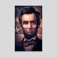 Lincoln - Canvas by Dominick Saponaro