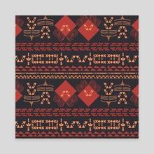 Ethnic 2v - Canvas by Luiza Kozich