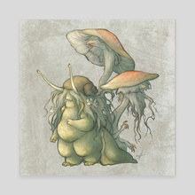 Snail and Mushroom Changelings - Canvas by Savannah Horrocks