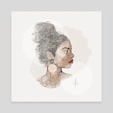 Soft Profile - Canvas by Ana Brezovec