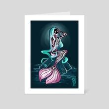 Siren - Hallow deep - Art Card by Taran Tarr