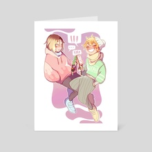 Texting Duo Kenhina - Art Card by Mochii Jax