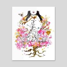 To See You in Full Bloom (Genjimonogatari series) - Acrylic by Maiji/Mary Huang