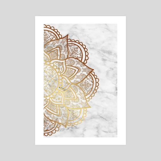 Mandala - Gold & Marble by Alexandre Ibáñez