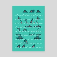 Shooting Gallery - Canvas by Hector Mansilla