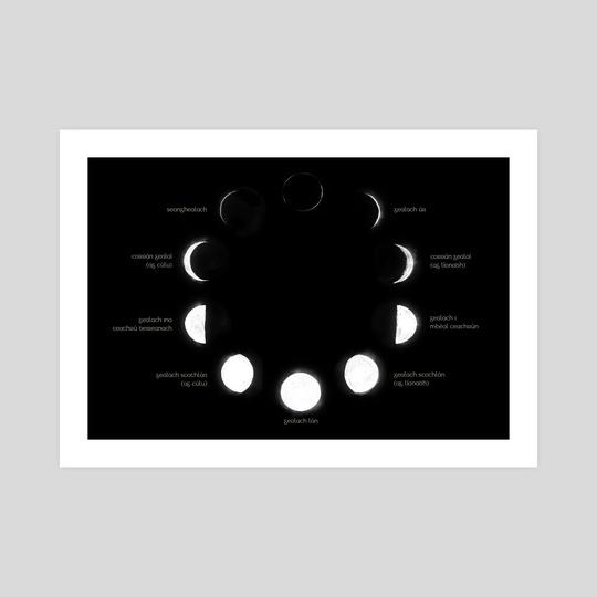 Irish Astronomy - Lunar phases Gaeilge by Ciaran Duffy
