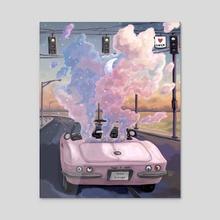 Along the way  - Acrylic by Jane Koluga