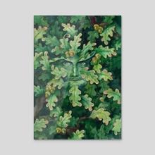 """Green Man"" - Acrylic by Olya Demidova"