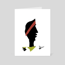 Profile in black - Art Card by Jorge Heilpern