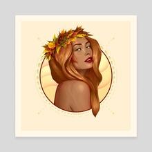 Autumn - Canvas by Denis Shevchenko