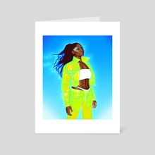 neon normani - Art Card by K Dudley