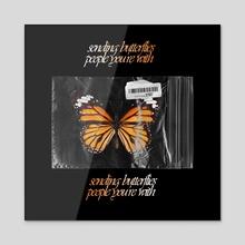 Sending Buterflies - Acrylic by Luke Trash