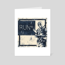 Run - Art Card by Sean Cumiskey