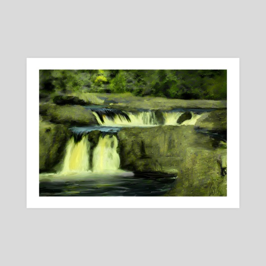 Impressionist View of Low Force Waterfall by Dominic Wade
