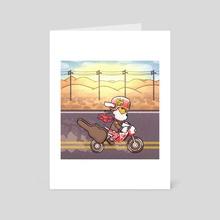 Go KK Rider! - Art Card by Tucker Wooley