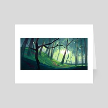 Lost in the forest - Art Card by Cécile Carre