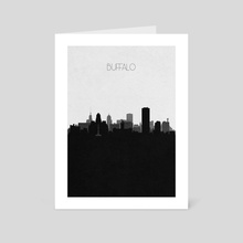 Buffalo - Art Card by Deniz Akerman