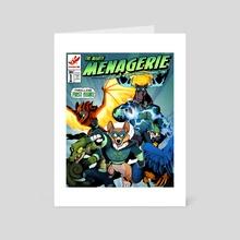 The Mighty Menagerie - Art Card by Amanda Kadatz