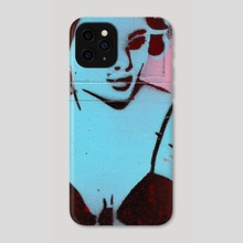 Pinup Blue Floppy - Phone Case by Justin Cownden
