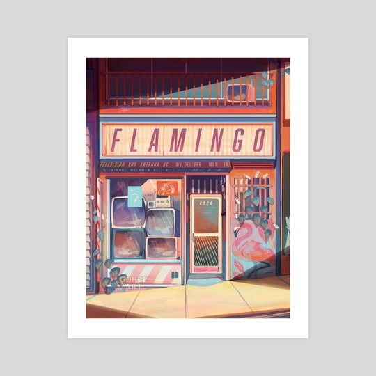 Flamingo Electronics by Geneva Bowers
