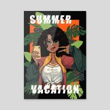 Summer Vacation - Acrylic by Magalie Yang