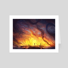 The Ocean is on Fire - Art Card by Jorge Jacinto