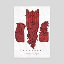 Crimson Catalyst (III) - Canvas by Shardstone