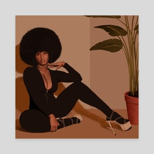 Suzi - Canvas by John 'Jamal' Nwabiani