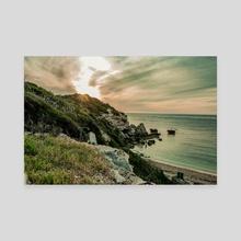Cliffs Overlooking The Ocean - Canvas by Abbie Zeek