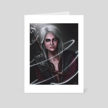 Ciri The Witcher - Art Card by Mireia Fdz