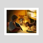 Learning to Read - Art Print by Jeremy Norton Artist