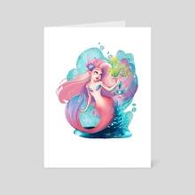 Pink Mermaid - Art Card by Peter Brockhammer