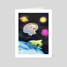 Bighead in Space - Art Card by Victor Nguyen