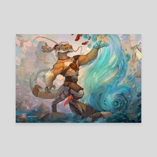 The Master of Water - Canvas by Cindy Avelino