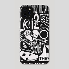 The 1975 Poster (Tracklist) - The 1975 - Phone Case by Tyler Crumrine