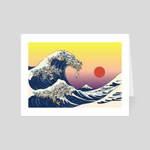 The Great Wave Of Cat - Art Card by huebucket
