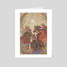 The Stag - Art Card by Deborah Lee