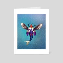 Superbug Underwater - Art Card by Crystal Smith