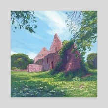 Overgrown Ruins - Canvas by Maddy