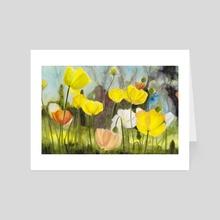 Poppies - Art Card by Emma Falconer