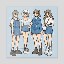 Blue fits - Acrylic by fresh_bobatae