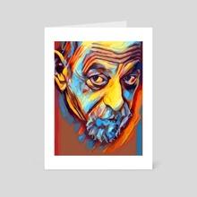 Paulo Coelho Vector Pop Art Portait - Art Card by Sagar Ibrahim  Siyal