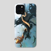 Dragon Battle - Phone Case by Nicholas Greenwood