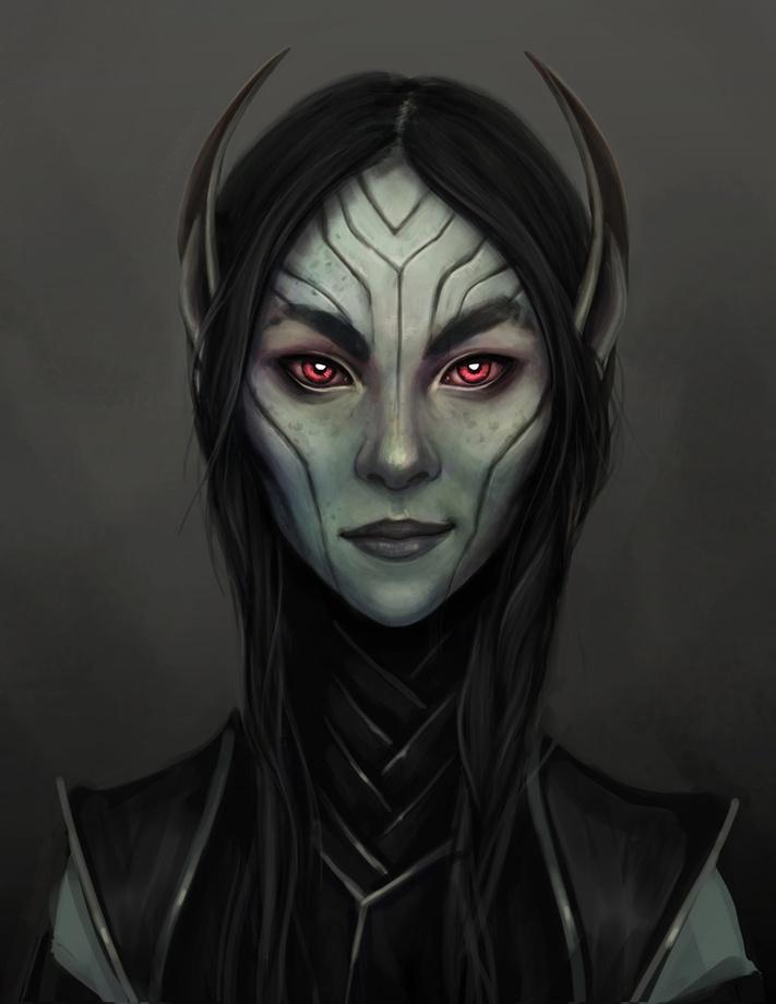 Dark Elf Girl Portrait An Art Print By Serena Archetti Inprnt