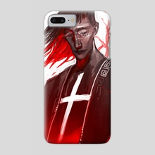 red - Phone Case by harteus