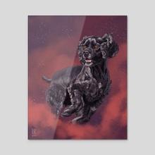 Chaos - Acrylic by Rebecca Kriz