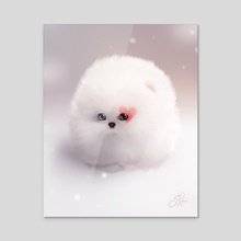 Fluffball - Acrylic by Sandra Winther