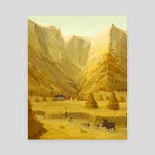 Stag Valley - Canvas by Pixel  Island