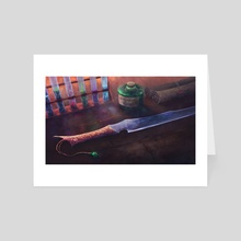 poison and dagger - Art Card by Michael Wassermann