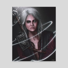 Ciri The Witcher - Canvas by Mireia Fdz